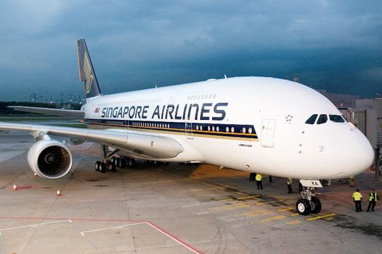 图:新加坡航空公司首架空中客车a380客机-新加坡航空jpg大全 新加坡