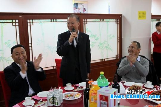 图:深航党委书记樊澄发表新年致辞 摄影:邓冠群