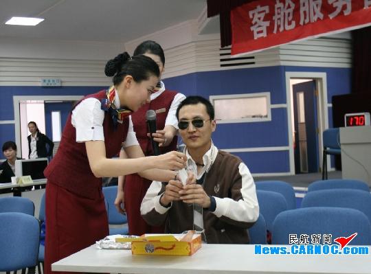 国航内蒙古客舱服务部成功举办乘务技能比武
