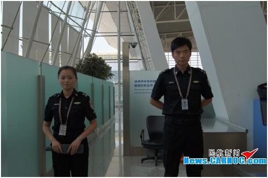 武汉天河国际机场安检员统一换装