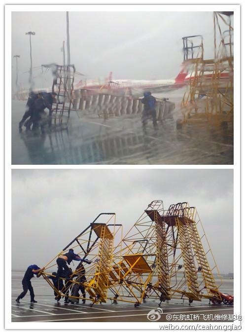 """台风""""海葵""""肆掠下的民航一线人 2012-08-08 民航资源网"""