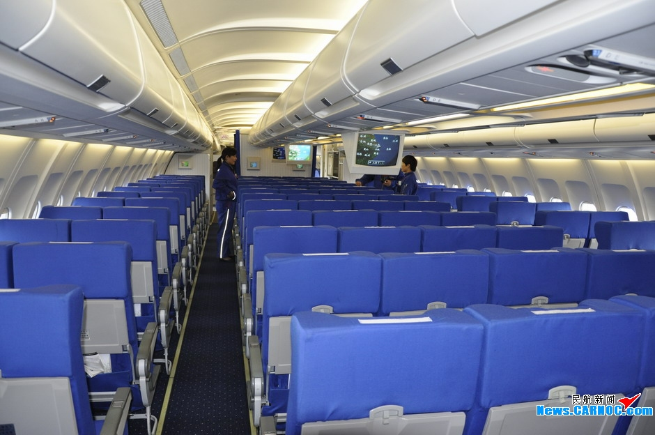 a340-300飞机客舱图片