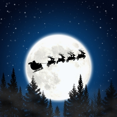 图:圣诞老人的驯鹿雪橇