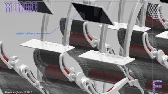 图4:airgo座椅的折叠式小桌板和可伸缩屏幕.图片