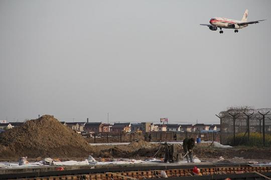 江苏监管局莅临南通机场检查不停航施工工程