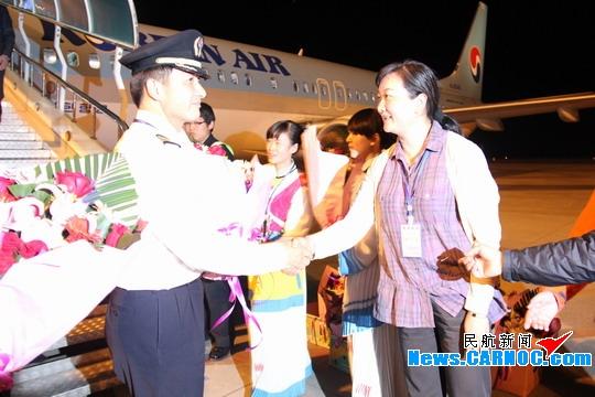 丽江机场开通首尔—丽江—首尔国际直航航班