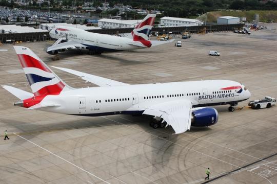 图:英国航空波音787飞机-英航接收首架787飞机 将执飞多伦多和纽瓦