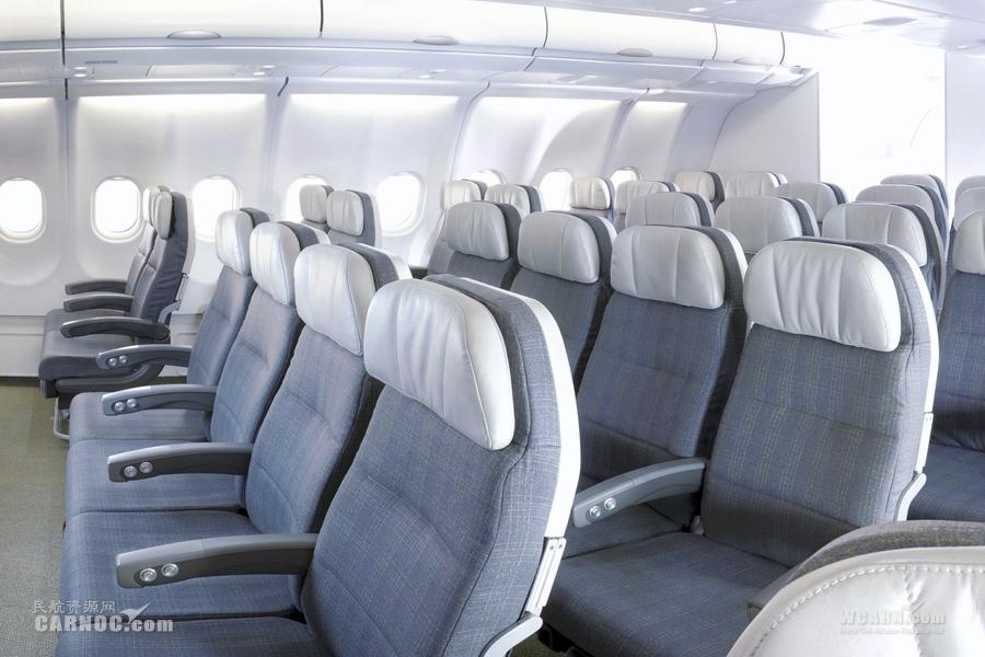 飞机经济舱里面 中国飞机经济舱里面 飞机内部图片经济舱