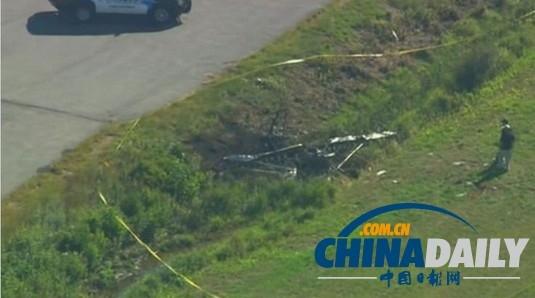 美国一小飞机起飞时坠毁 机上2人全部遇难