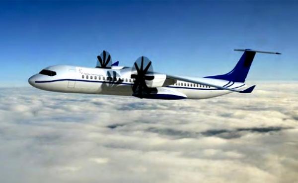 飞机 机型/图:阿莱尼亚·马基公司的90座级ATR飞机概念图...