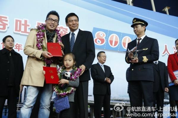 <b>上海机场年旅客吞吐量首次突破8000万人次</b>