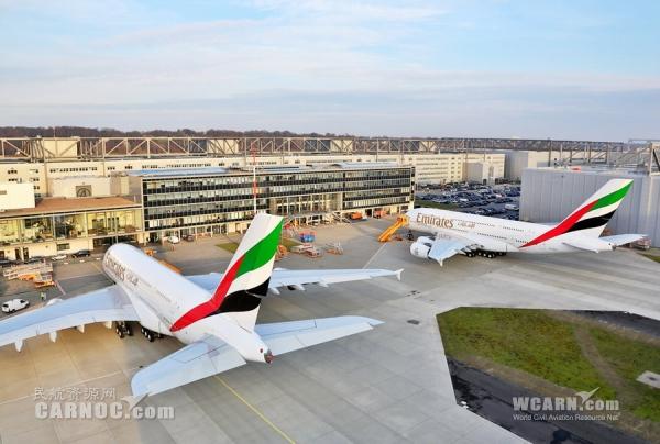 a380/图1:阿联酋航空近日新接收了两架空客A380客机,目前阿航A380...