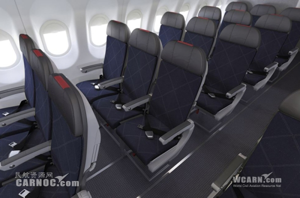 圖4:美國航空a321客機經濟艙圖片