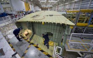 图集 A380飞机机翼的生产和运输图片