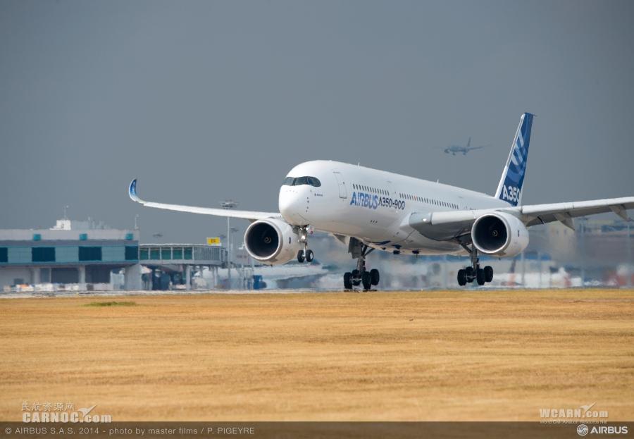 空客a350xwb宽体飞机是目前世界上最新一代远程中型宽体飞机,第一