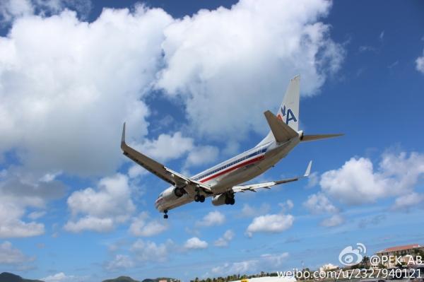 美航从圣马丁岛朱莉安娜公主机场起飞全纪录
