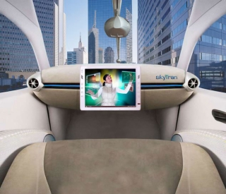 以色列将建磁悬浮 空中汽车 解决城市拥堵高清图片