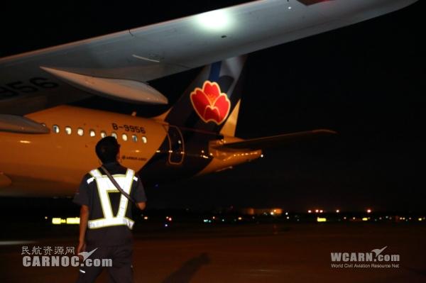 图:青岛航空开通青岛往返北京航线.摄影:张善敏