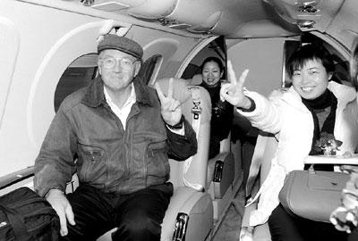 浙江 裘德道/裘德道购买了浙江省内第一架私人飞机