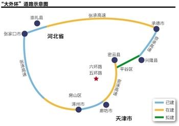 京津冀交通一体化雏形初现 北京新机场跨两地