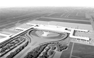 天河机场T3航站楼效果图-探访湖北省 头号重点工程 天河机场三期工程