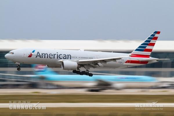 欧美囹n���_图:美国航空公司n776an号波音777-200型客机.(摄影:民航资源网网友\