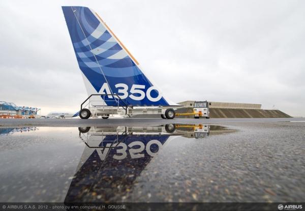 空中客车a350xwb宽体飞机成功完成主体结构组装