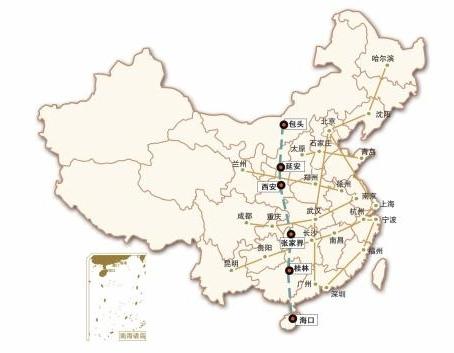 七省区筹划西部高铁通道连接包头和海口