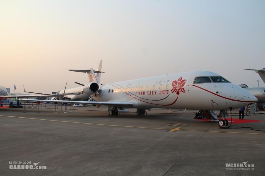 中一航空庞巴迪挑战者850机型亮相航展现场