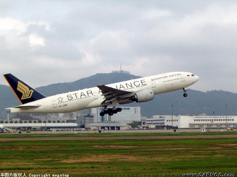 "Re:[原创]在深圳首次拍到新航的777""星空联盟"" BOEING 777 9V-SRE"