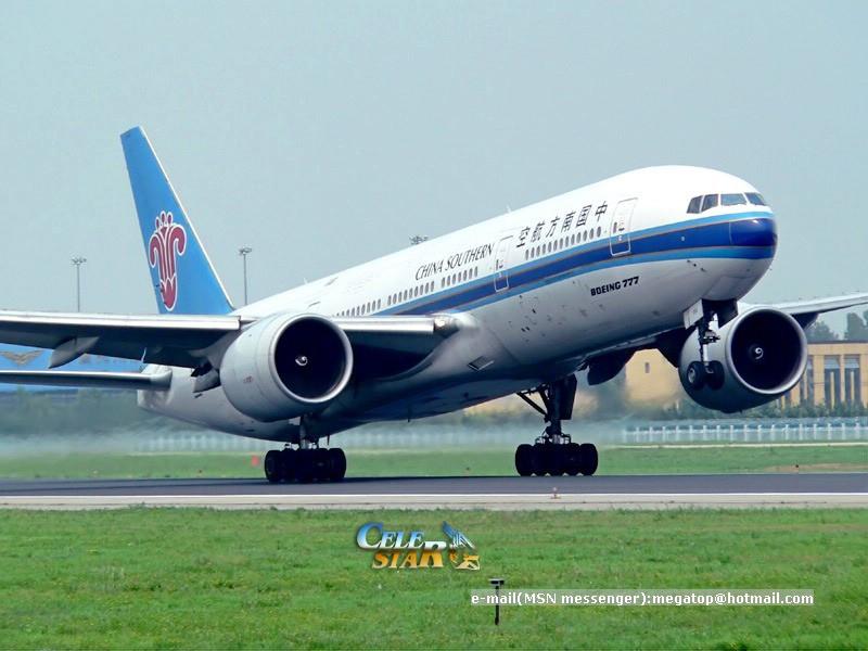 图片类别: 飞机 机型: boeing 777-200 所属公司: 中国南方航空公司