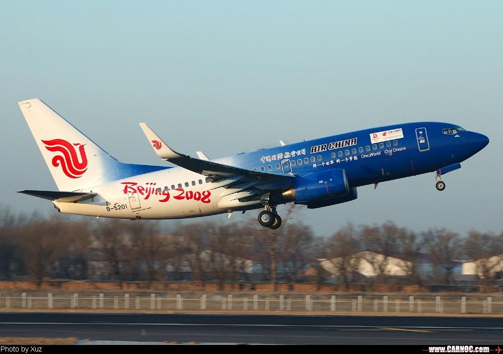 北京之行四 奥运号清晨起飞 BOEING 737-700 B-5201  中国北京首都机场