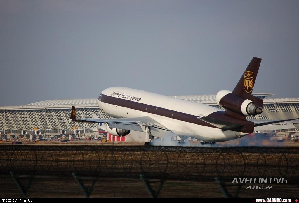 冬日午后,狂扫PVG MCDONNELL DOUGLAS MD-11 N254UP  中国上海浦东机场