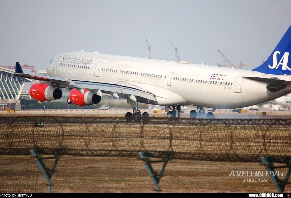 Re:冬日午后,狂扫PVG AIRBUS A340-200 OY-KBD  中国上海浦东机场