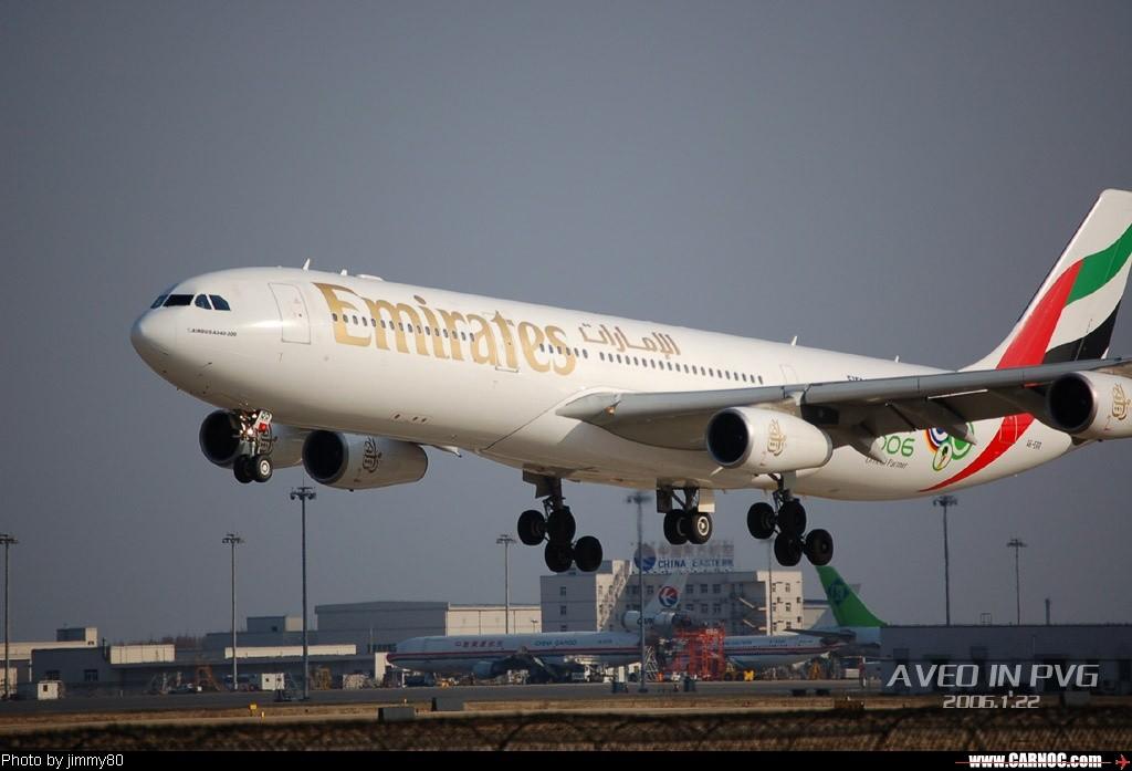 Re:冬日午后,狂扫PVG AIRBUS A340-200 A6-ERR  中国上海浦东机场