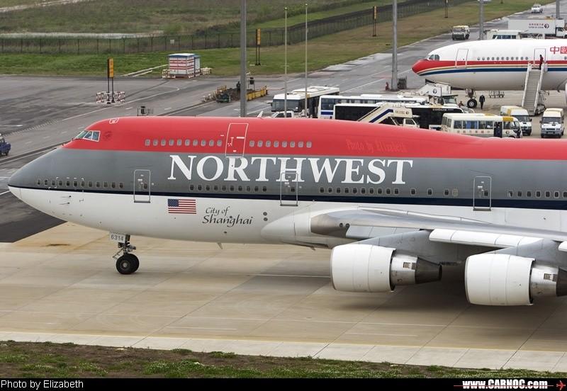 """""""City of Shanghai"""" in Shanghai BOEING 747-400 N674US"""