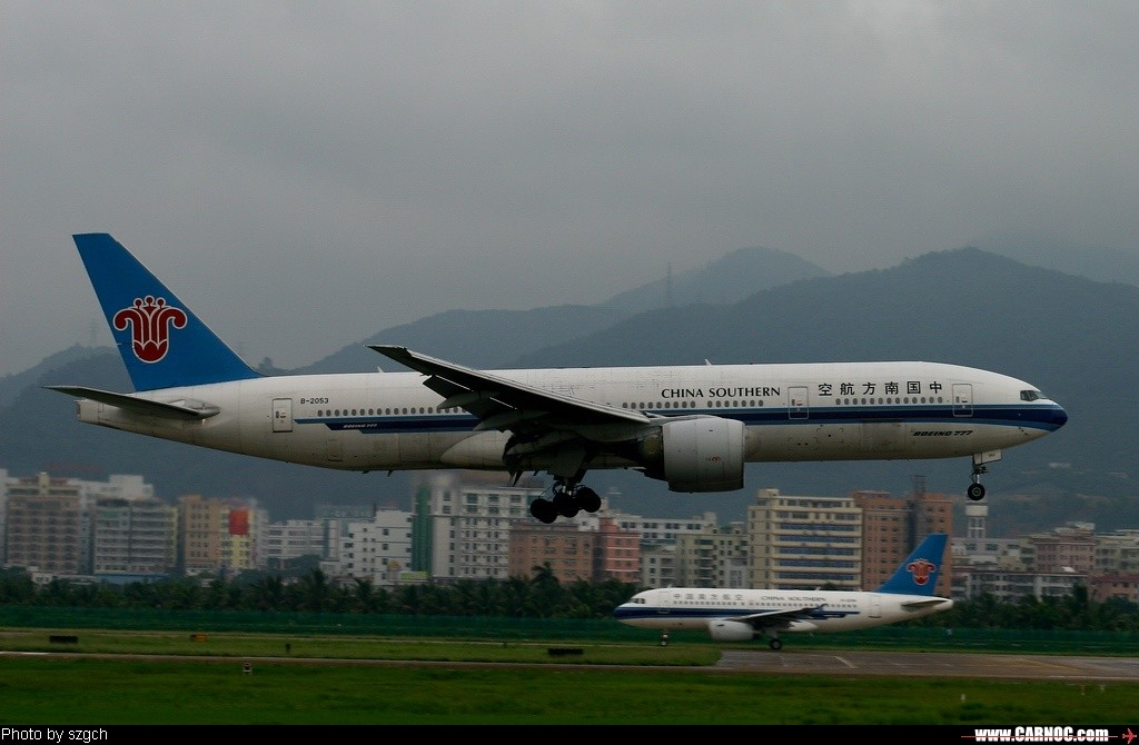 Re:6月3日深圳机场雨中杂图 BOEING 777-200 B-2053