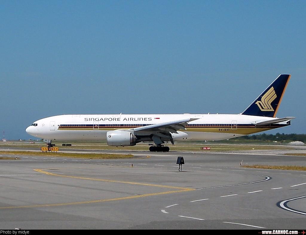 Re:[原创]一百天的努力现在升到777啦,祝贺祝贺自己(看贴者送一架,回贴者送二架) BOEING 777-200 9V-SVI