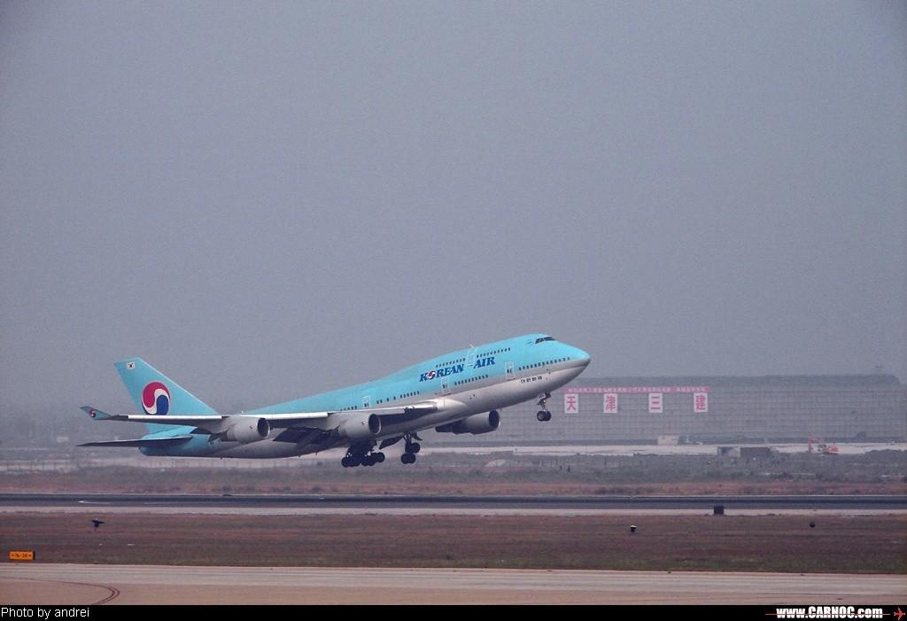 [原创]两组747起飞 BOEING 747-400   中国天津滨海机场