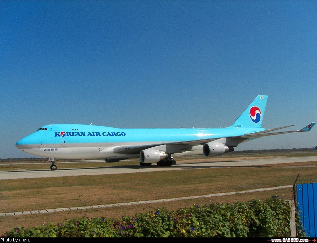 Re:[原创]korean air cargo BOEING 747-400 HL-7602  中国天津滨海机场