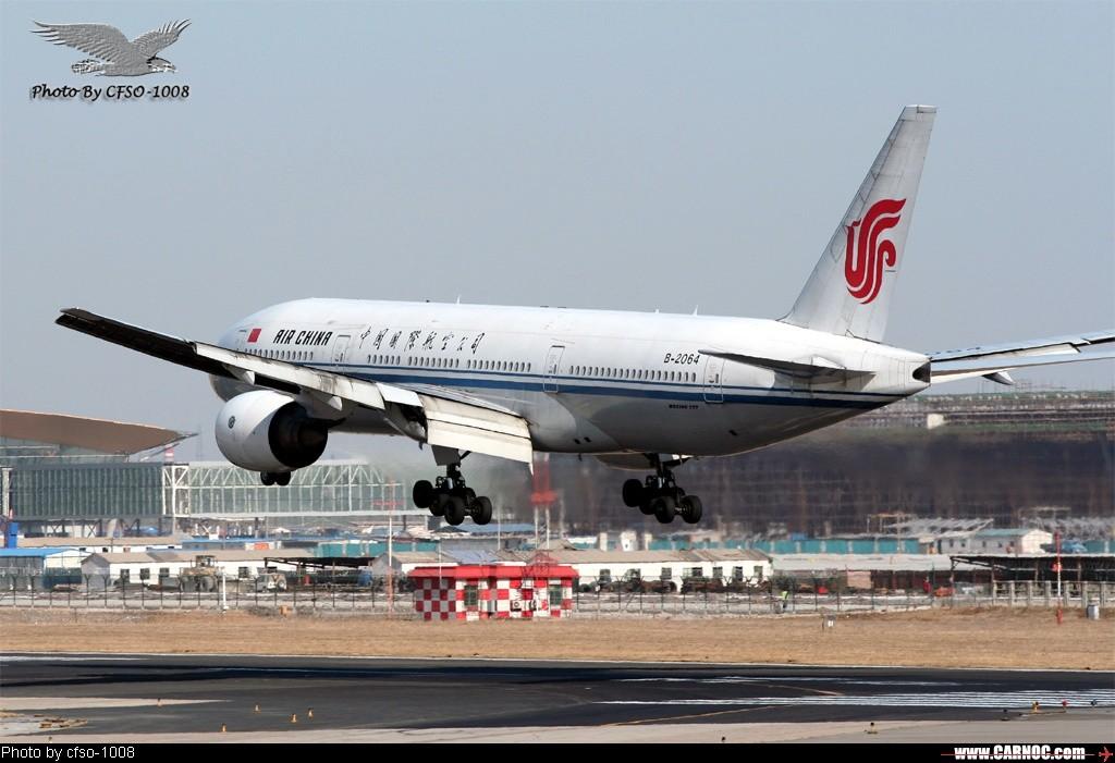 [原创]在东跑道屋顶位置拍降落 BOEING 777-200 B-2064