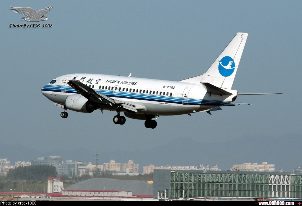 Re:[原创]东跑道屋顶位置拍降落 BOEING 737-500 B-2592