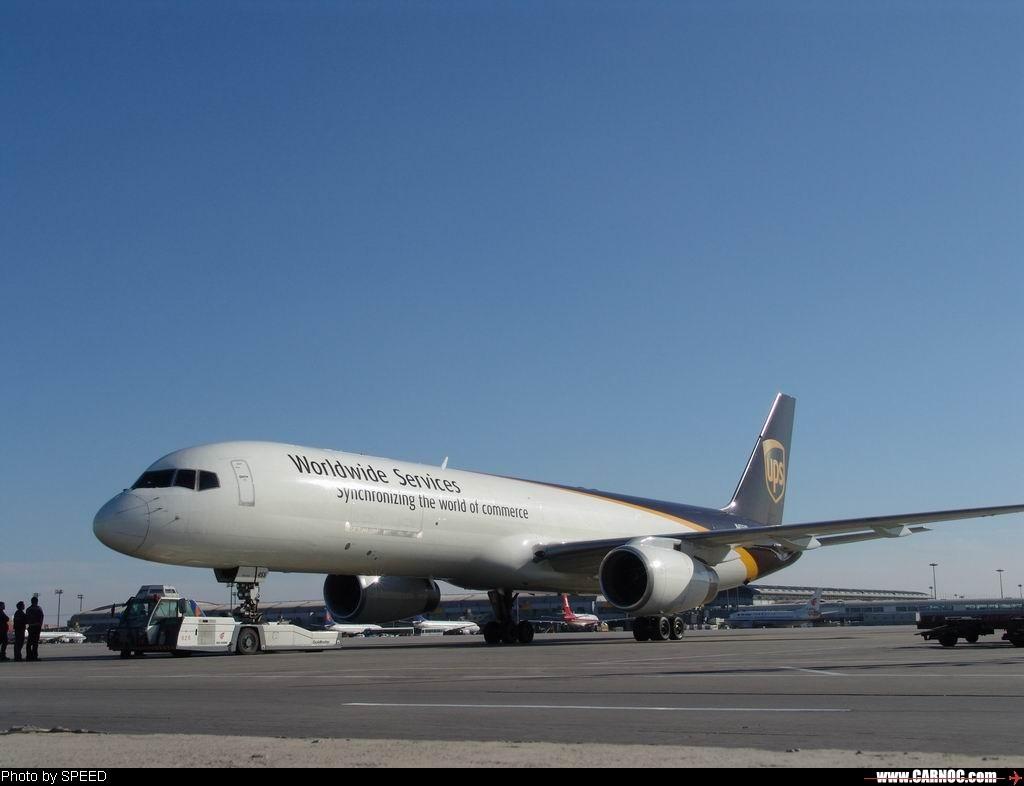 "Re:[原创]今天打到的鲜货""UPS757""图两张。 BOEING 757-200 N455UP"