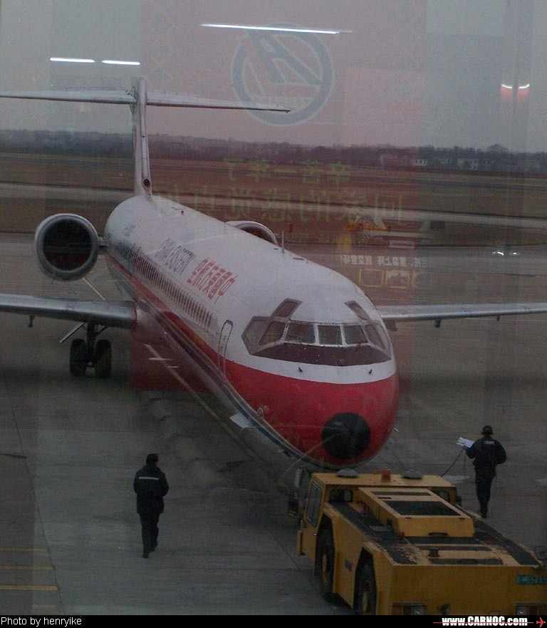 Re:[原创]2月24日HFE-SHA,虹桥巧遇港龙~ MCDONNELL DOUGLAS MD-90 B-2263  中国合肥骆岗机场