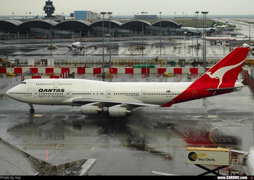 [原创]最近拍的 BOEING 747-400 VH-OJR 中国香港赤喇角机场