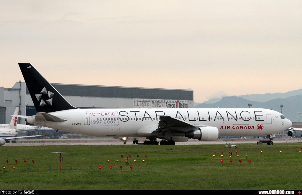 Re:[原创]红红的767+背部和小翼,庆祝我767啦~~~~~~~~~~~~ BOEING 767-331 C-FMWY 中国北京首都机场
