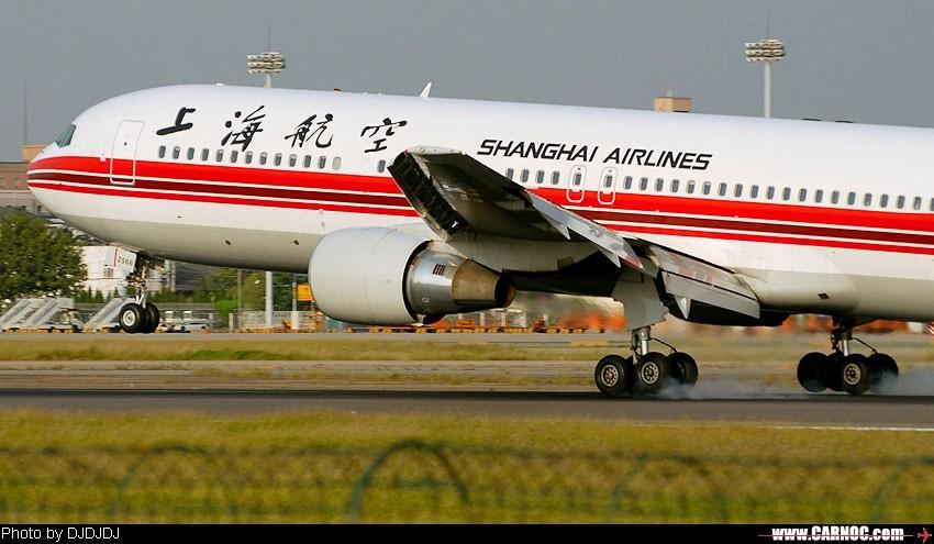 上航2568/767-300 BOEING 767-300 B-2566 中国上海虹桥机场