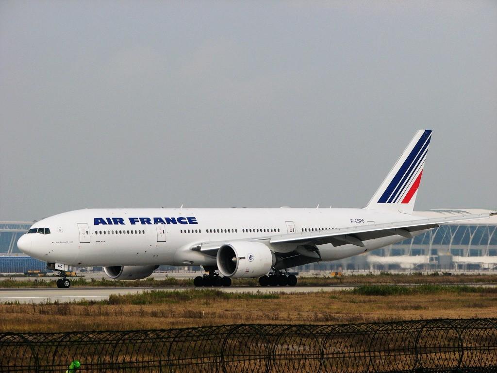 """[原创]PVG""""L A N""""(读第4声)天下的法航 BOEING 777-200 F-GSPO 中国上海浦东机场"""
