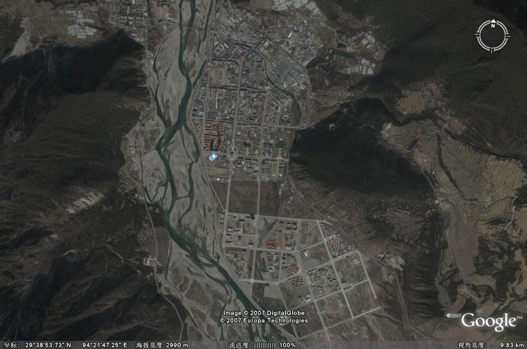 >>林芝机场-google卫星地图版 >>帖子列表          顺便贴一张八一镇