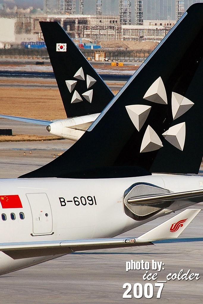 [原创]此图贴于入盟仪式前一天。 AIRBUS A320-200 B-6091 中国北京首都机场